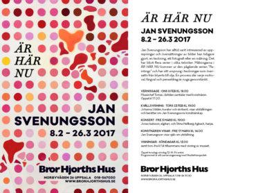Jan Svenungsson Ausstellung in Bror Hjorths, Uppsala