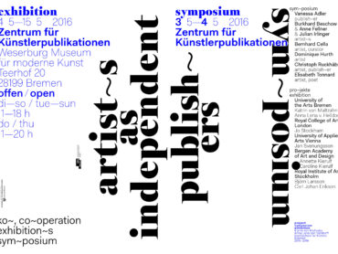 artists as independent publishers